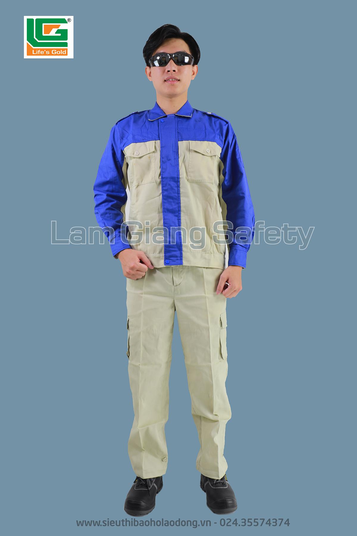 Quần áo vải kaki bangim HQ phối xanh mỏng