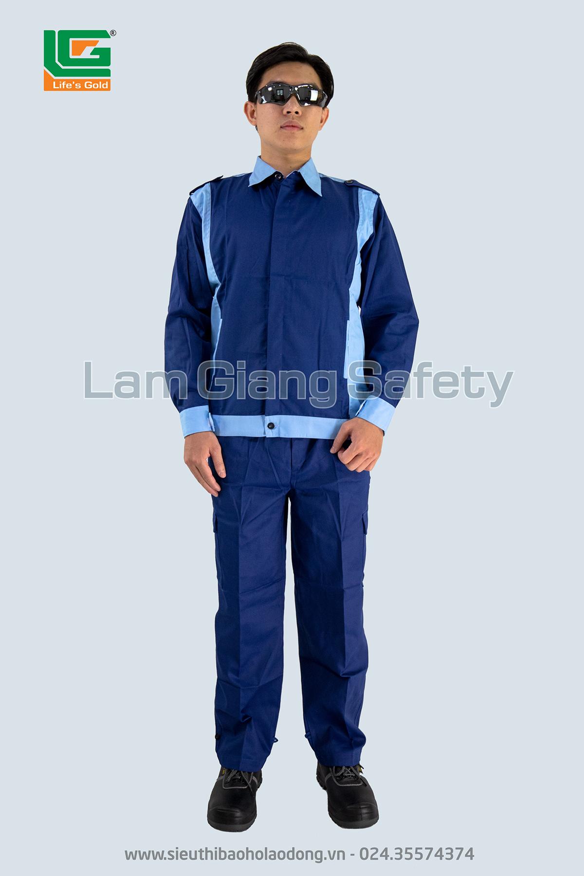 Bộ kaki chất liệu vải pangim Hàn Quốc pha phối xanh
