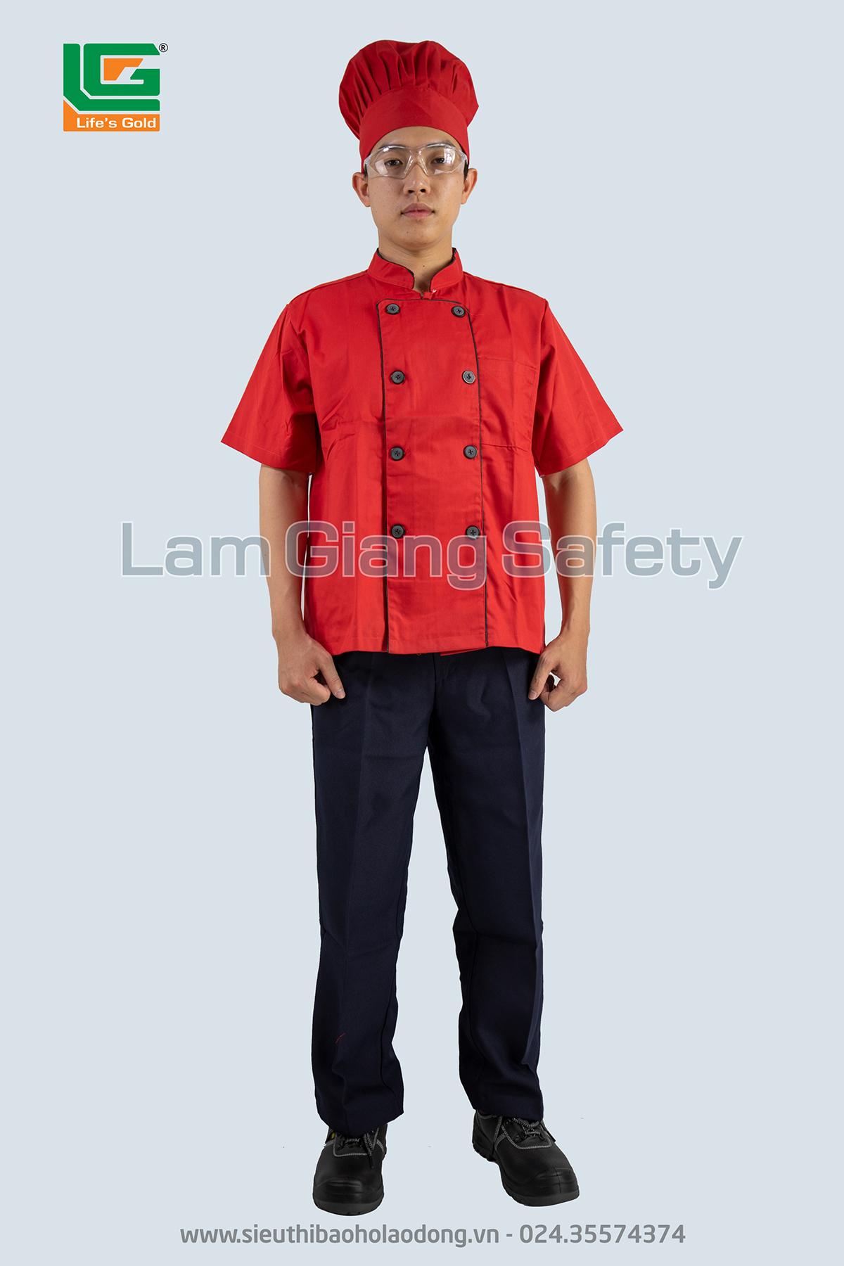 Áo bếp trắng, đỏ, đen (không quần)