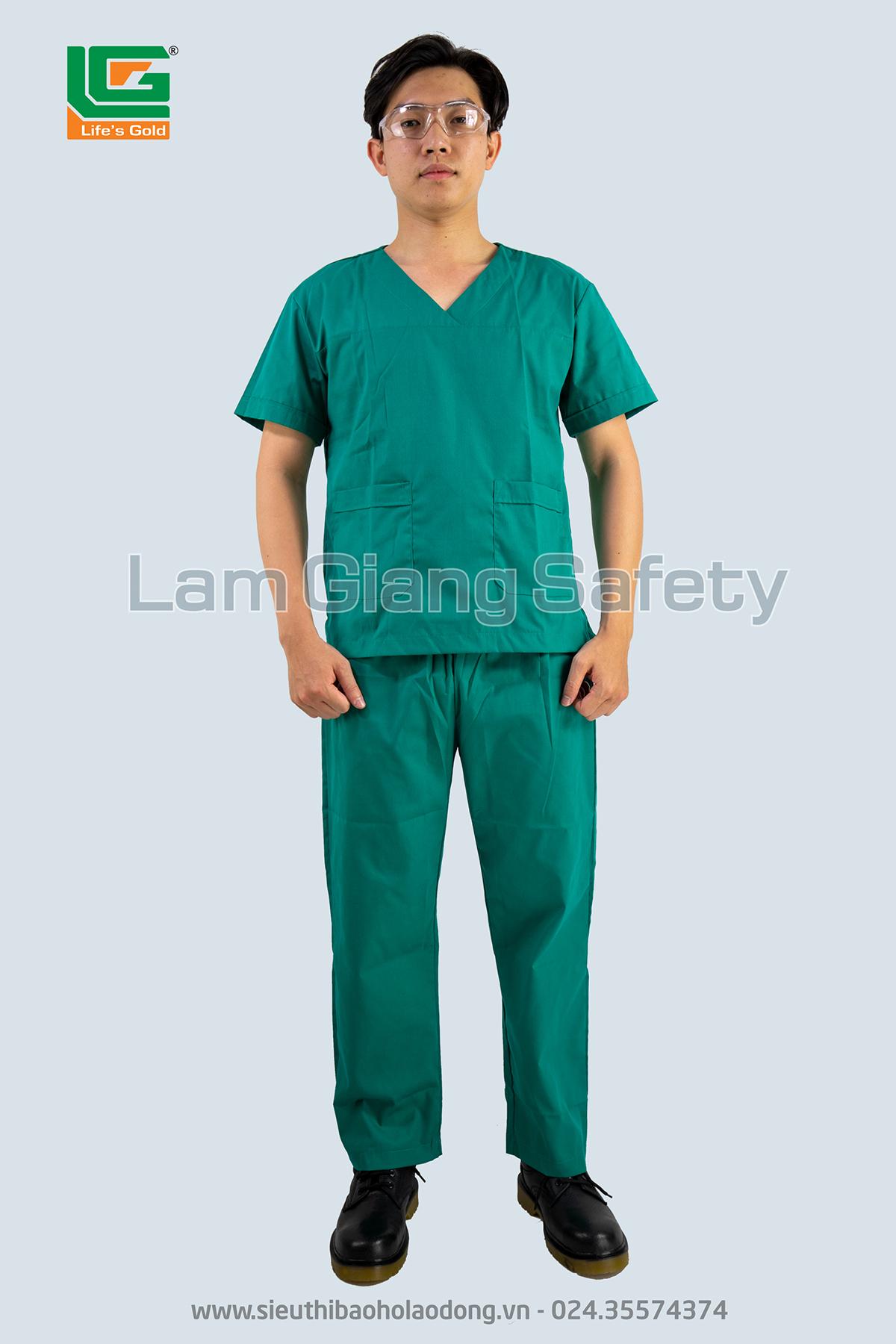 Quần áo phẫu thuật màu xanh