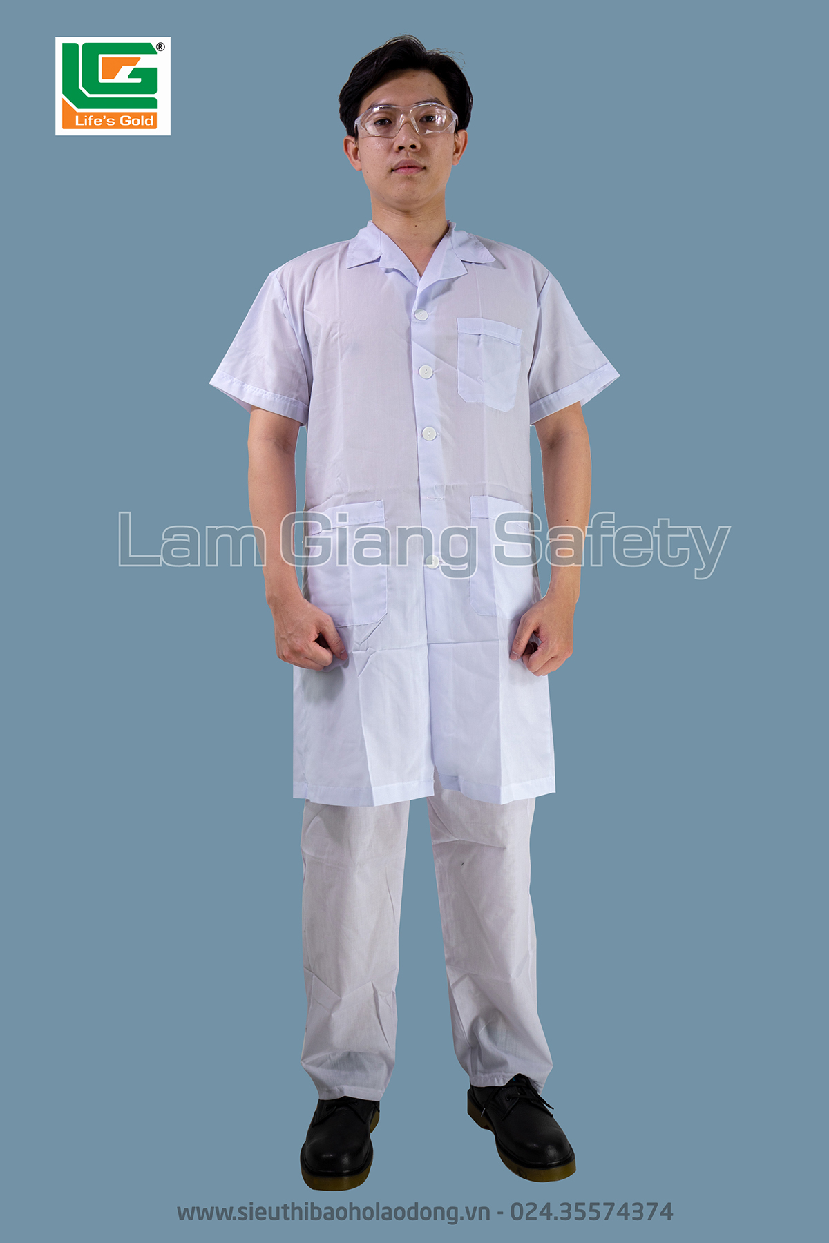 Quần áo blouse trắng