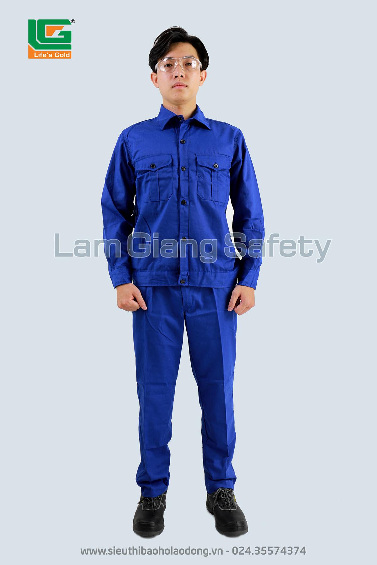Quần áo vải kaki Nam Định loại 1 màu xanh