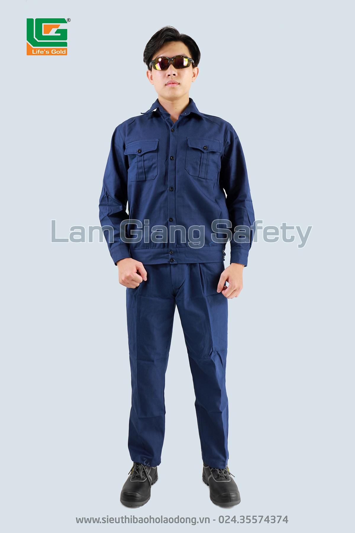 Quần áo vải bạt thợ hàn màu tím than