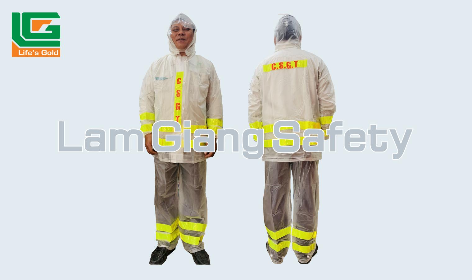 Quần áo mưa phản quang CSGT