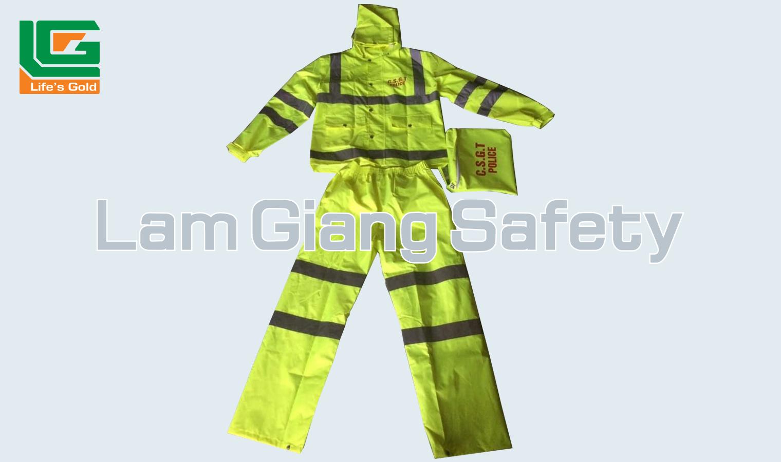 Quần áo mưa CSGT cao cấp nhiều phản quang