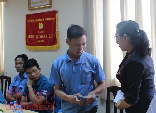 Quan tâm, chăm lo cho công nhân bị tai nạn lao động tại TP Hồ Chí Minh