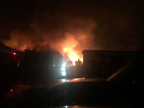 Hơn 5h đồng hồ dập tắt đám cháy ở công ty dệt trong KCN Biên Hòa 2