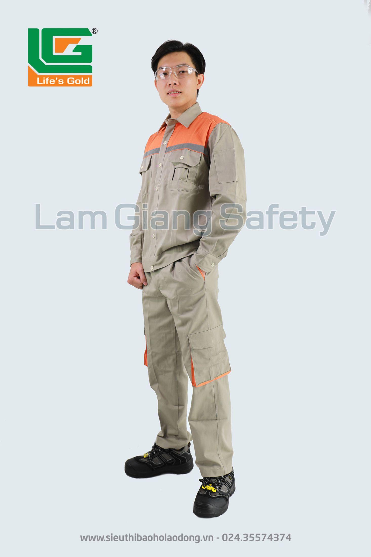 Quần áo vải kaki bangim HQ dày phối màu cam